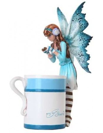 Hot Cocoa Fairy by Amy Brown Mythic Decor  Dragon Statues, Angels & Demons, Myths & Legends |Statues & Home Decor