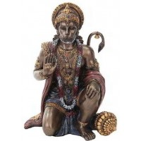 Hanuman Hindu God Bronze Finish Statue