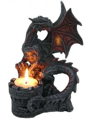 Dragon Candle Holder Mythic Decor  Dragon Statues, Angels, Myths & Legend Statues & Home Decor