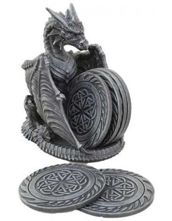 Dragon Celtic Knot Coaster Set Mythic Decor  Dragon Statues, Angels, Myths & Legend Statues & Home Decor