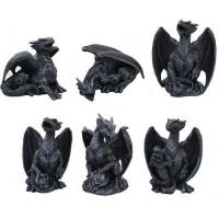 Mini Dragon Statue Set of 6