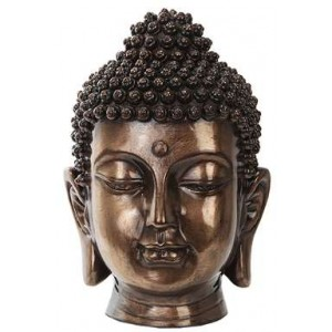 Buddha Head Small Bronze Bust Mythic Decor  Dragon Statues, Angels & Demons, Myths & Legends |Statues & Home Decor