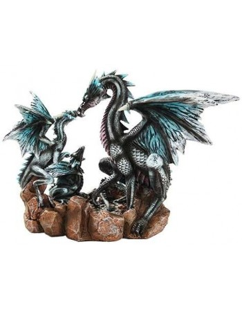Dragon Family Statue Mythic Decor  Dragon Statues, Angels, Myths & Legend Statues & Home Decor