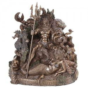 King Neptune Grotto Statue by Derek W Frost Mythic Decor  Dragon Statues, Angels & Demons, Myths & Legends |Statues & Home Decor
