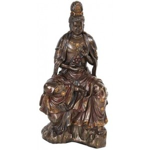 Water and Moon Kwan Yin Bronze Resin Statue Mythic Decor  Dragon Statues, Angels & Demons, Myths & Legends |Statues & Home Decor