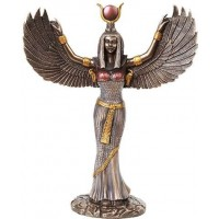 Winged Isis Egyptian Goddess Statue - 12 Inches