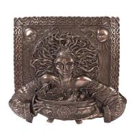 Cerridwen Cauldron Celtic Goddess 9 Inch Bronze Finish Plaque