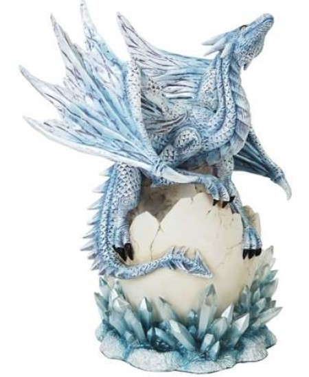 Dragon Hatchling on Crystal Statue at Mythic Decor,  Dragon Statues, Angels, Myths & Legend Statues & Home Decor