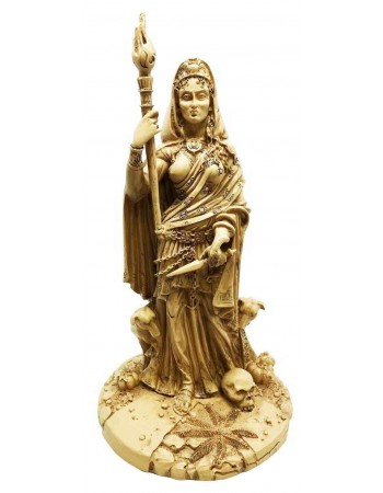 Hecate Greek Goddess of the Crossroads Bone Resin Statue