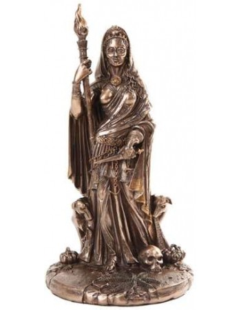 Hecate Greek Goddess of the Crossroads Bronze Resin Statue