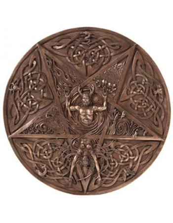 Elemental Pentacle Bronze Wall Plaque Mythic Decor  Dragon Statues, Angels, Myths & Legend Statues & Home Decor
