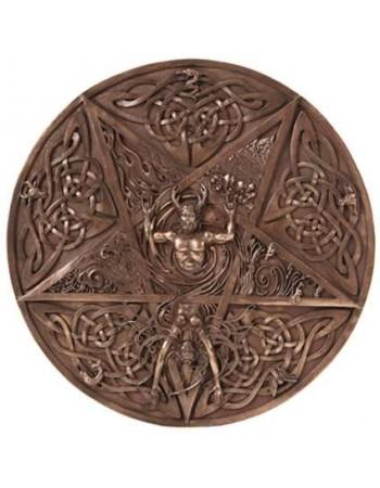 Elemental Pentacle Bronze Wall Plaque Mythic Decor  Dragon Statues, Angels & Demons, Myths & Legends |Statues & Home Decor