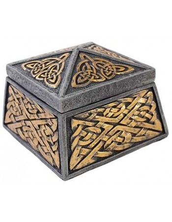 Celtic Knot Lidded Trinket Box Mythic Decor  Dragon Statues, Angels, Myths & Legend Statues & Home Decor