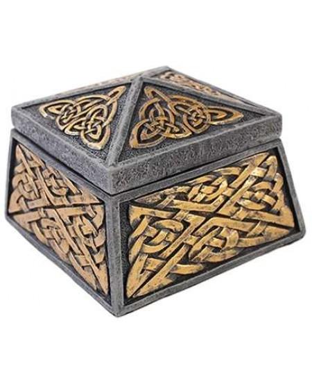 Celtic Knot Lidded Trinket Box at Mythic Decor,  Dragon Statues, Angels, Myths & Legend Statues & Home Decor