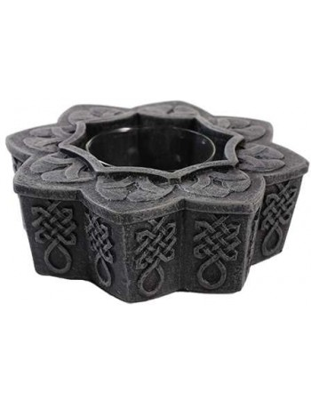Celtic Tea Light Candle Holder Mythic Decor  Dragon Statues, Angels, Myths & Legend Statues & Home Decor