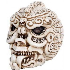 Aztec Bone Resin Design Skull Mythic Decor  Dragon Statues, Angels & Demons, Myths & Legends |Statues & Home Decor