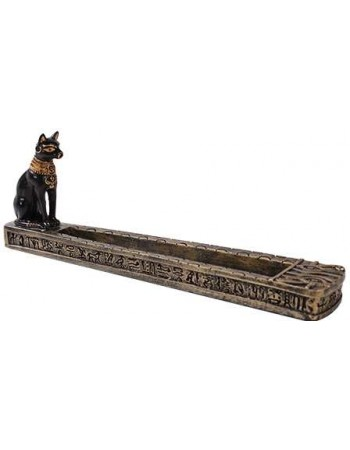 Bastet Egyptian Incense Burner Mythic Decor  Dragon Statues, Angels, Myths & Legend Statues & Home Decor