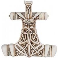 Mjolnir Thor Hammer Bone Resin Plaque