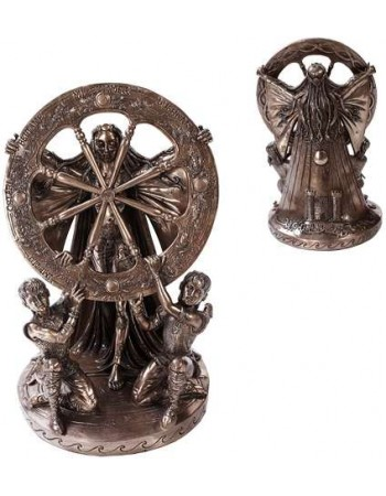 Arianrhod Wheel of the Year Bronze Statue Mythic Decor  Dragon Statues, Angels & Demons, Myths & Legends |Statues & Home Decor