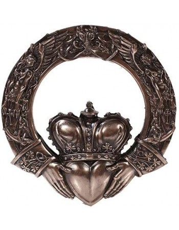 Irish Claddagh Crowned Heart Wall Plaque