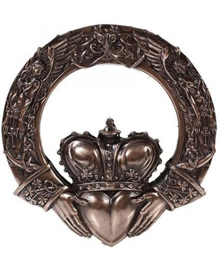 Irish Claddagh Crowned Heart Wall Plaque at Mythic Decor,  Dragon Statues, Angels, Myths & Legend Statues & Home Decor