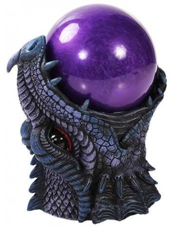 Dragon Head Storm Ball Statue Mythic Decor  Dragon Statues, Angels & Demons, Myths & Legends |Statues & Home Decor