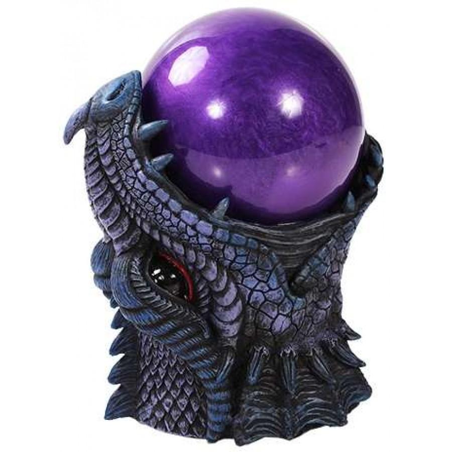 dragon head storm ball statue medieval snow globe