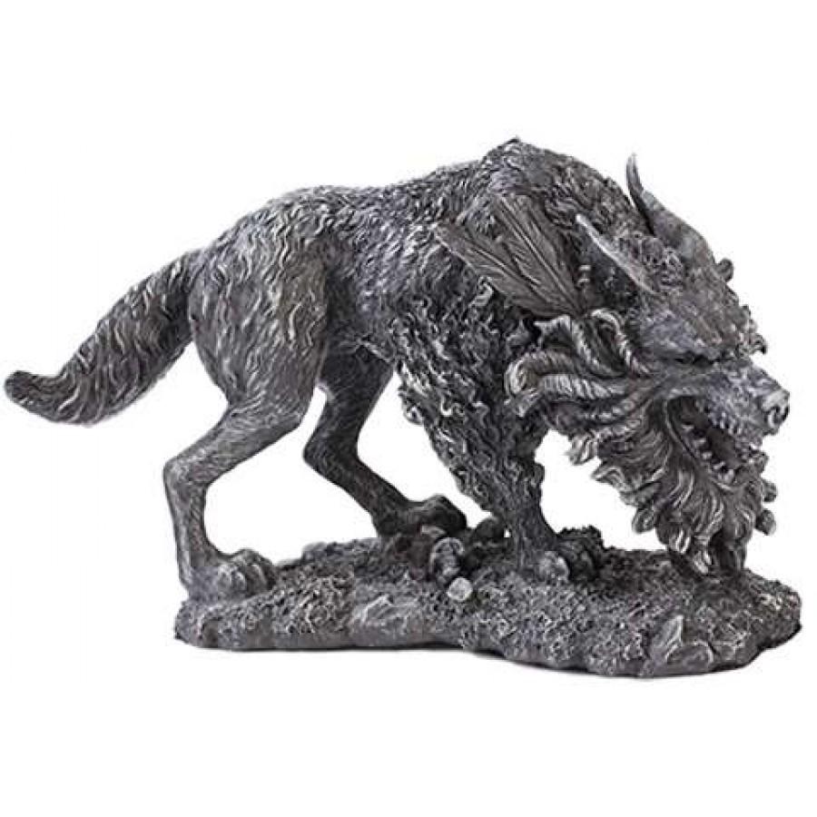 fenrir werewolf statue by derek w frost fantasy statue