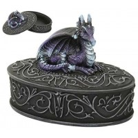 Purple Dragon Trinket Box