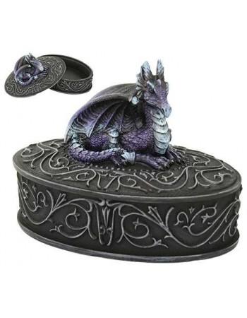 Purple Dragon Trinket Box Mythic Decor  Dragon Statues, Angels, Myths & Legend Statues & Home Decor
