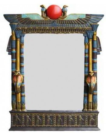 Wadjet Egyptian Wall Mirror with Cobra Candle Sconces Mythic Decor  Dragon Statues, Angels, Myths & Legend Statues & Home Decor