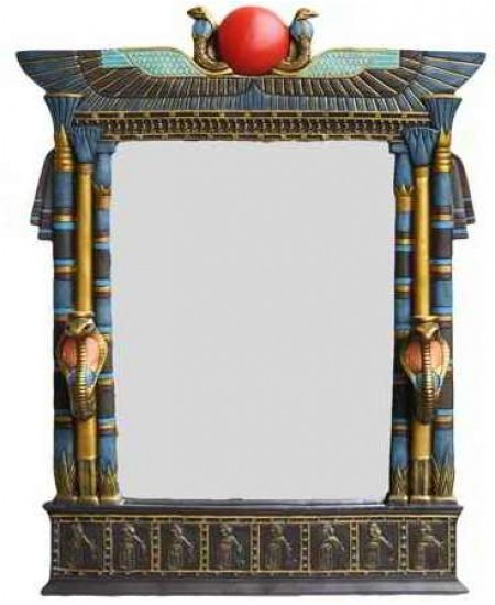 Wadjet Egyptian Wall Mirror with Cobra Candle Sconces at Mythic Decor,  Dragon Statues, Angels, Myths & Legend Statues & Home Decor