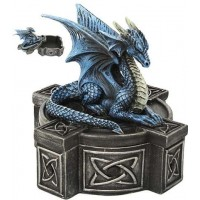 Celtic Cross Dragon Trinket Box