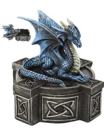 Celtic Cross Dragon Trinket Box Mythic Decor  Dragon Statues, Angels & Demons, Myths & Legends |Statues & Home Decor