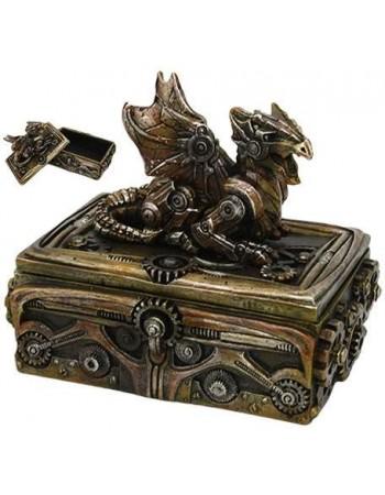 Steampunk Dragon Trinket Box Mythic Decor  Dragon Statues, Angels, Myths & Legend Statues & Home Decor