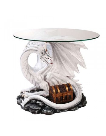 Dragon Treasure Glass Top Accent Table Mythic Decor  Dragon Statues, Angels, Myths & Legend Statues & Home Decor
