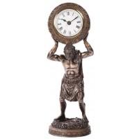 Atlas Holding the World Table Clock