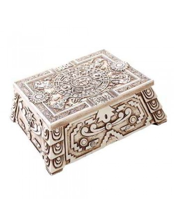 Aztec White Resin Trinket Box Mythic Decor  Dragon Statues, Angels, Myths & Legend Statues & Home Decor