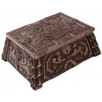 Aztec Bronze Resin Trinket Box