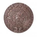 Aztec Bronze Resin Round Trinket Box