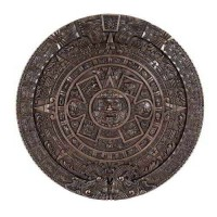 Aztec Solar Calendar Wall Relief Bronze Plaque