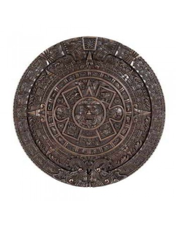 Aztec Solar Calendar Wall Relief Bronze Plaque Mythic Decor  Dragon Statues, Angels, Myths & Legend Statues & Home Decor
