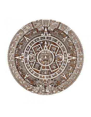 Aztec Solar Calendar Wall Relief Plaque Mythic Decor  Dragon Statues, Angels, Myths & Legend Statues & Home Decor