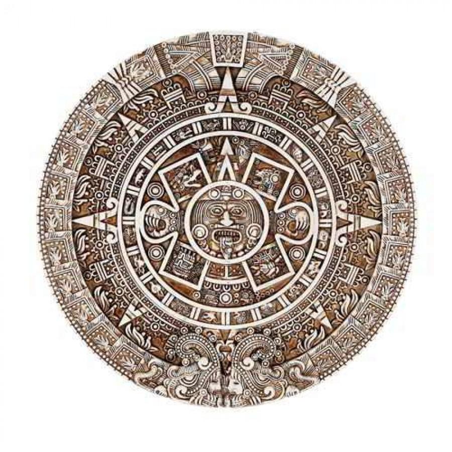 aztec calendar resin wall plaque universal calendar