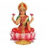 Lakshmi Hindu Goddess Seated on Lotus Statue at Mythic Decor,  Dragon Statues, Angels, Myths & Legend Statues & Home Decor