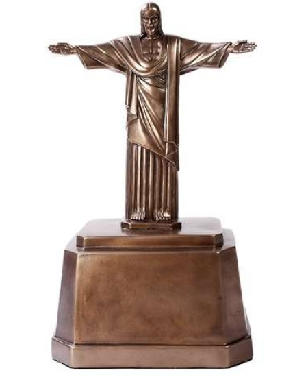 Christ the Redeemer Bronze Memorial Urn at Mythic Decor,  Dragon Statues, Angels, Myths & Legend Statues & Home Decor