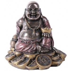 Good Fortune Buddha Bronze Resin Statue Mythic Decor  Dragon Statues, Angels & Demons, Myths & Legends |Statues & Home Decor