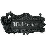 Dragon Welcome Sign Wall Plaque at Mythic Decor,  Dragon Statues, Angels & Demons, Myths & Legends |Statues & Home Decor