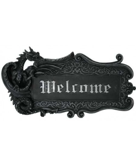 Dragon Welcome Sign Wall Plaque at Mythic Decor,  Dragon Statues, Angels, Myths & Legend Statues & Home Decor
