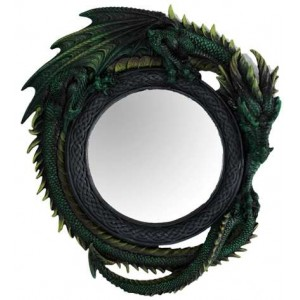 Green Dragon Wall Mirror Mythic Decor  Dragon Statues, Angels & Demons, Myths & Legends |Statues & Home Decor